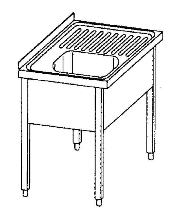 Sink Single and draining board- 100680-100699