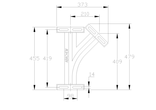 45° Switch - Right Hand - NO Diverters 120011