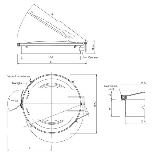 Large Diameter Hatch Code: B600
