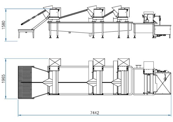 Hog Casing Equipment Standard Line: Model LSO -1000/4