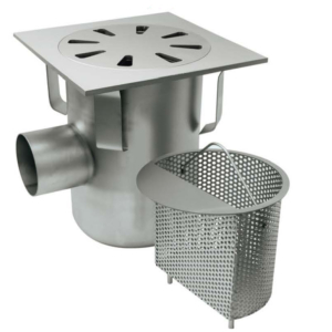 Gully 300x300 outlet 101,6 / 110mm Code: P.066L/2