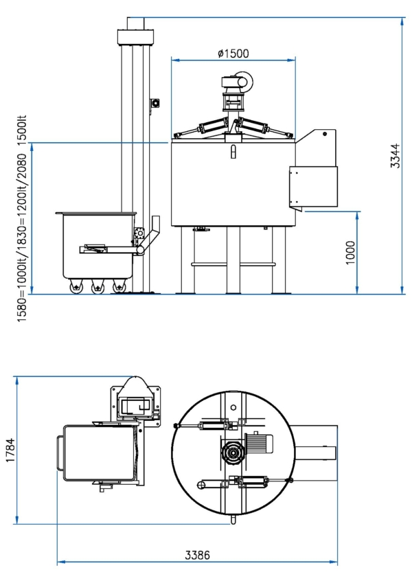 Pre-Heating & Cooking Vessel Model: TF-1250